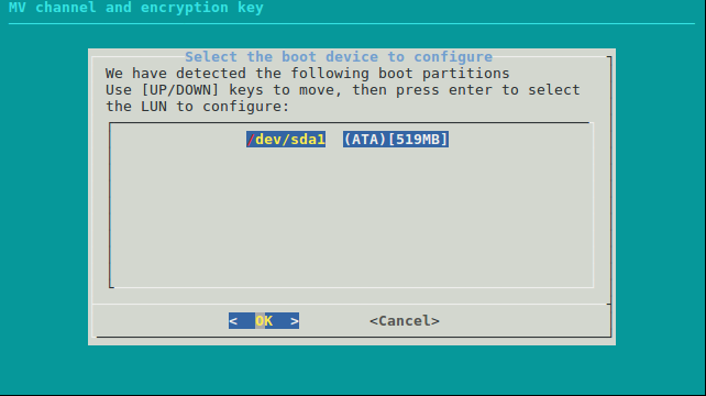 Channel and Encryption key