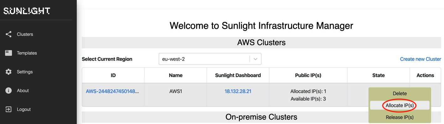 aws infrastructure allocate IPs 1
