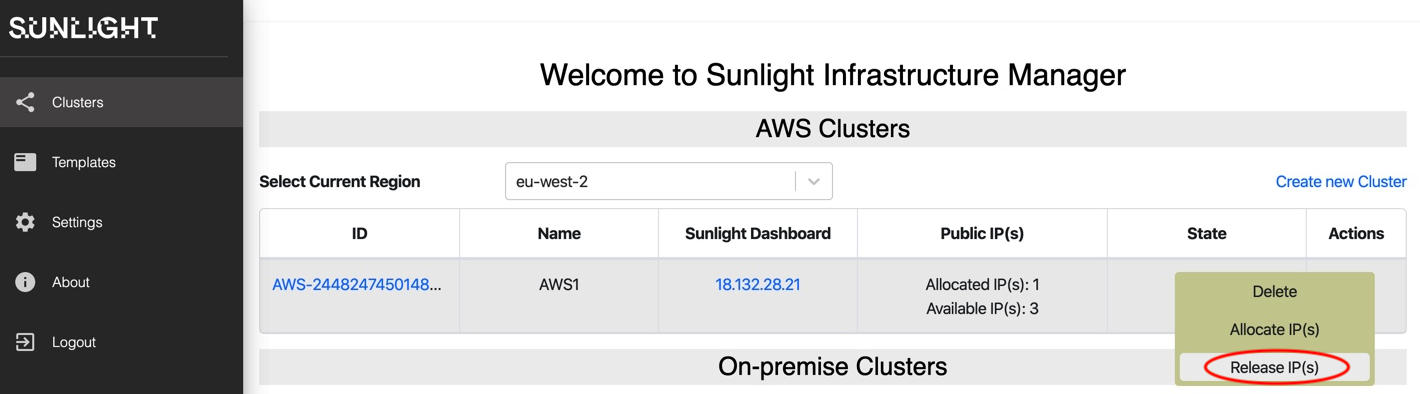 aws infrastructure release IPs 1