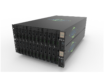 KMAX Server chassis, fully populated with 12-blades
