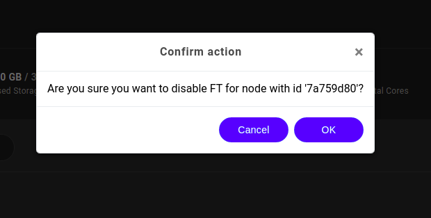 Disable FT confirmation